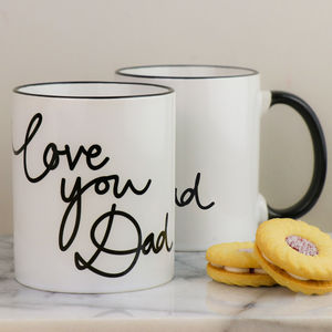 Personalised Love You Dad Mug - dining room