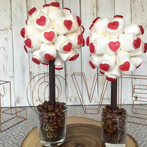 Personalised Valentines Haribo Heart Marshmallow Tree - wedding favours