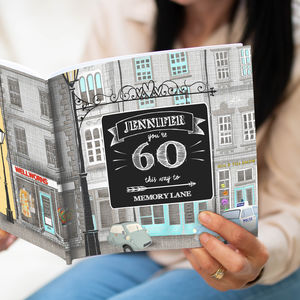 Personalised 60 Th Birthday Book 'Memory Lane'