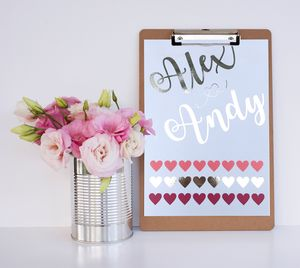 Personalised Hearts Print