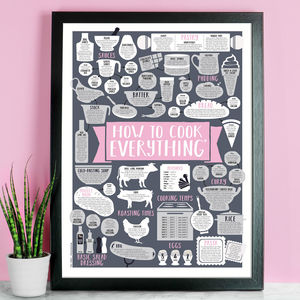 How To Cook Everything Print A3 Size - gifts for bakers