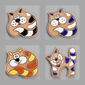 Handcrafted Ceramic Cats Magnets - keepsakes
