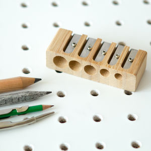Five Hole Pencil Sharpener - rulers, erasers & sharpeners