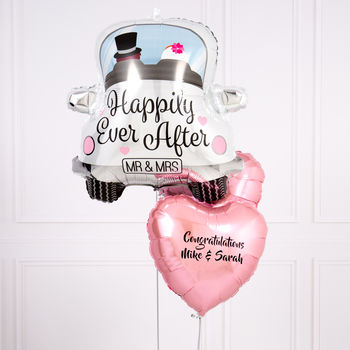 Inflated Personalised Happily Ever After Balloons