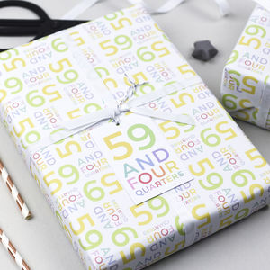 60th Birthday Wrapping Paper Set - shop by category