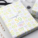 60th Birthday Wrapping Paper Set