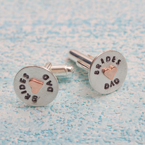 Father Of The Bride Cufflinks In Greetings Box - new in wedding styling