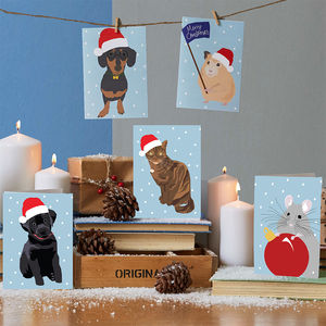 Pets Christmas Cards - cards
