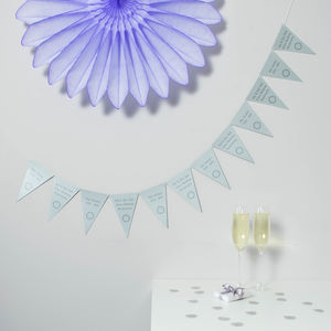 Silver Wedding Anniversary Bunting - decoration