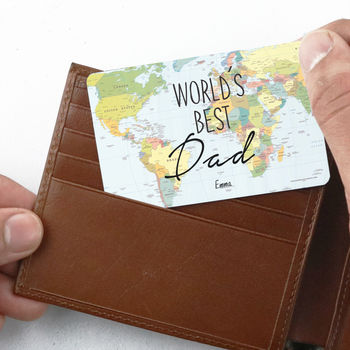 Personalised 'World's Best' Wallet Card