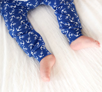 Anchor Print Child And Baby Leggings