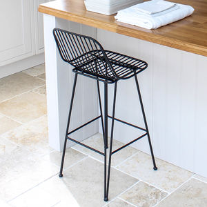 Black Iron Bar Stool - stools