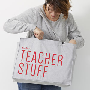Personalised 'Stuff' Large Tote Bag - gifts for teachers