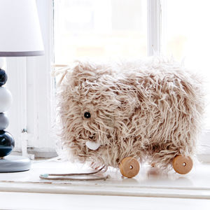 Woolly Mammoth Pull Along Toy - baby shower gifts