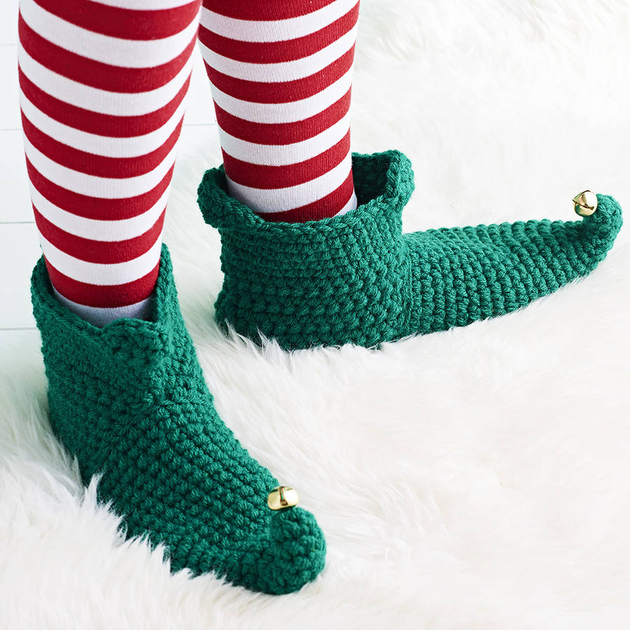 cfa1f134a585 crocheted christmas elf boots by eka