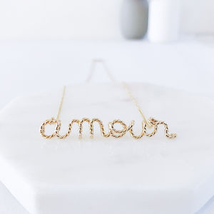 'Amour' 14k Gold Filled Necklace