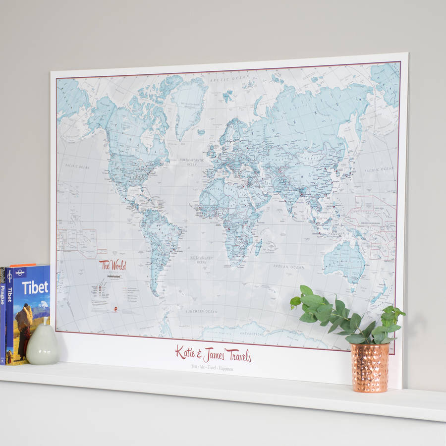 Personalised world is art map by maps international personalised world is art map gumiabroncs Gallery