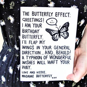 Personalised Birthday Butterfly Effect Card