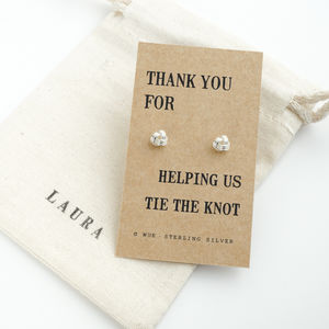 Thank You Bridesmaid Knot Earrings