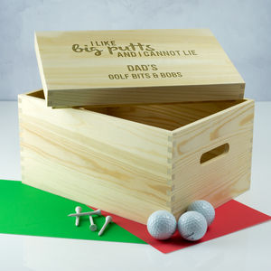 Personalised Golf Crate Gift - storage