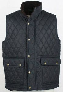 Men's Wax Quilted Gilet Jacket