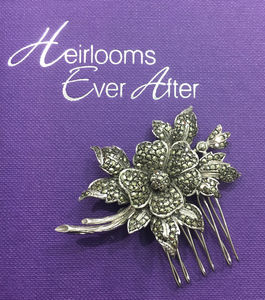 Vintage Marcasite Hair Comb - women's accessories