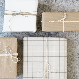 Double Sided Kraft Style Gift Wrap