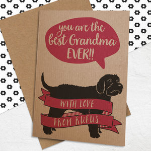 Best Grandma/Nanny/Nan Etc Card With Dog - mother's day cards