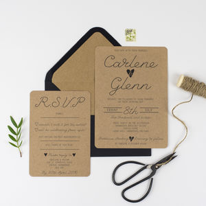 Country Charm Wedding Invitation And RSVP - wedding stationery