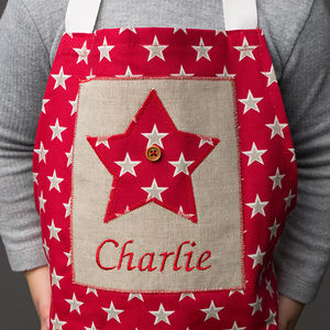 Personalised Children's Little Star Apron - kitchen