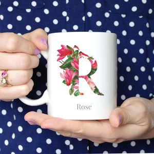 Personalised Floral Initial Mug - what's new