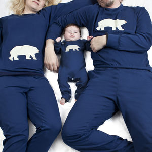Family Matching Pyjamas Polar Bear - mother & child sets