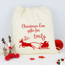 Personalised Reindeer Christmas Eve Sack