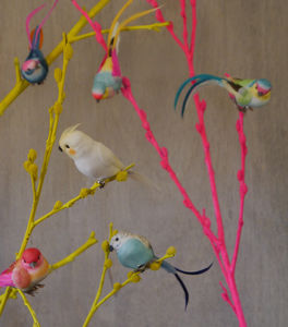 Set Of Six Feather Bird Clip Decorations - table decorations