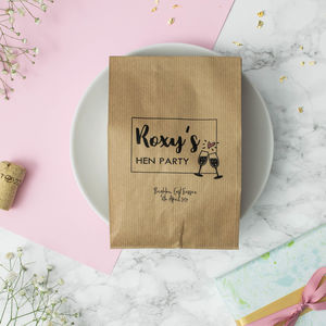 Personalised Set Of 10 Hen Party Paper Bags