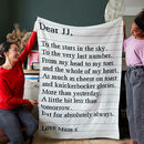 Knitted 'How Much I Love You' Blanket