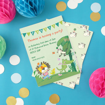 Personalised Boy's Jungle Invitations