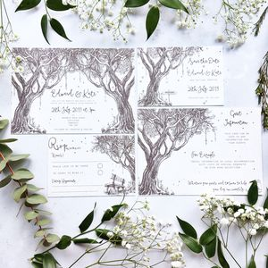 Enchanted Woodland Wedding Stationery - save the date cards