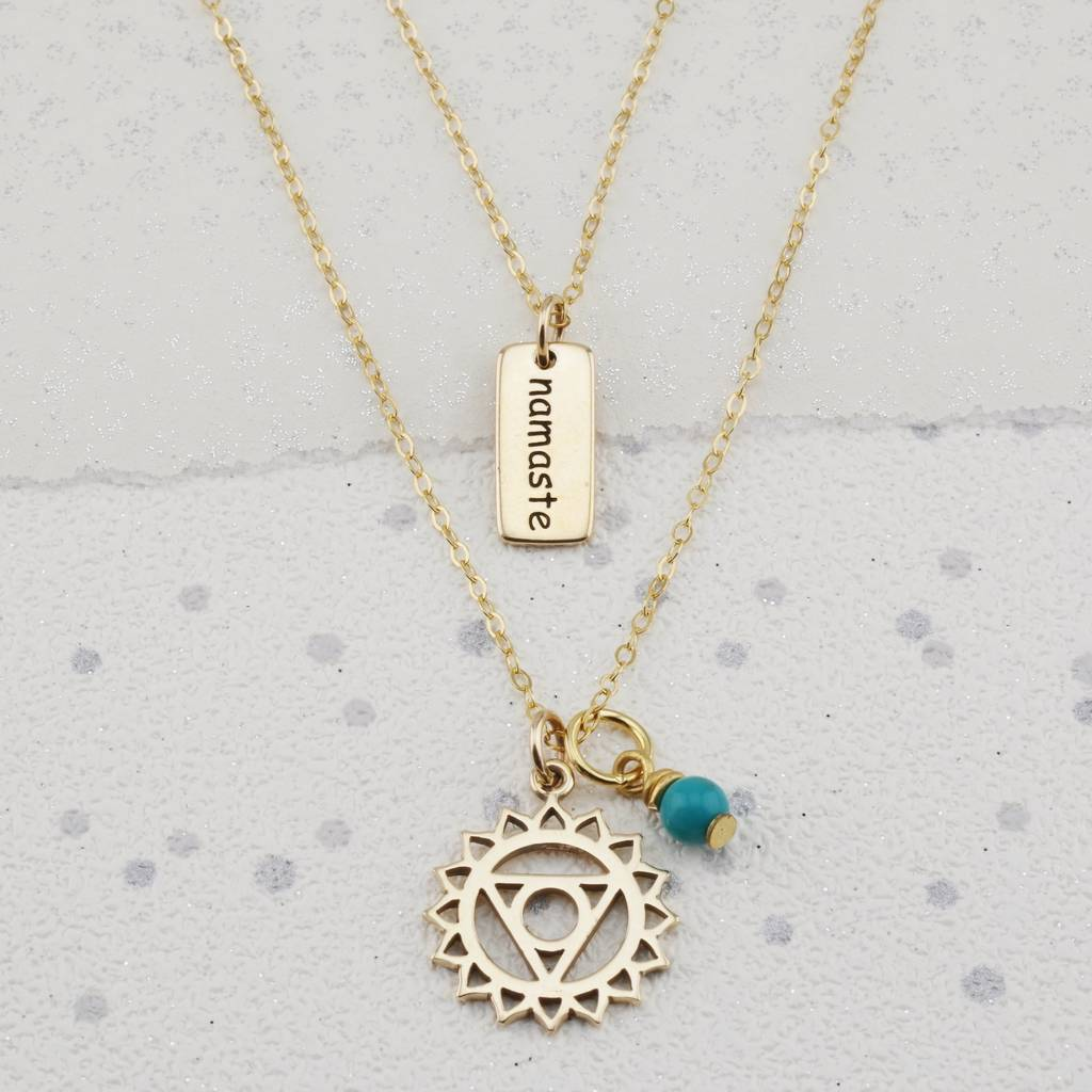 Throat chakra necklace in gold or silver by lily mo active throat chakra necklace in gold or silver aloadofball Gallery