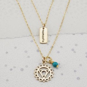Throat Chakra Necklace In Gold Or Silver - necklaces & pendants