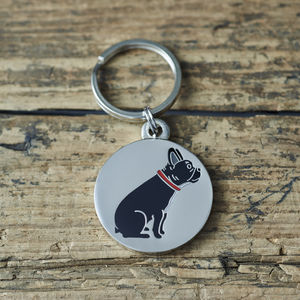 French Bulldog ID Name Tag - pet tags & charms