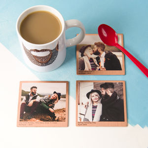 Personalised Solid Copper Photo Coaster - tableware