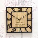 Personalised Wooden Clock With Roman Numerals