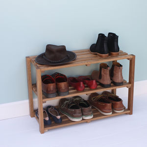 Oak Shoe Rack