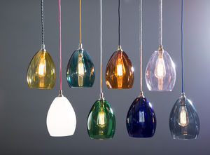 Bertie Mid Coloured Glass Pendant Light