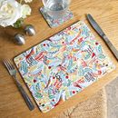 Tropical Birds Place Mats Set Of Four