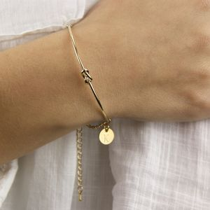 Personalised Gold Knot Bangle - bracelets & bangles
