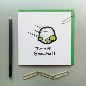 Snowball Turtle Christmas Cards - cards & wrap