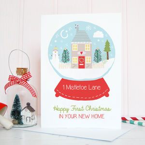 Personalised Happy First Christmas In New Home Card