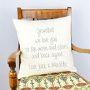 Personalised 'We Love You Grandad' Cushion